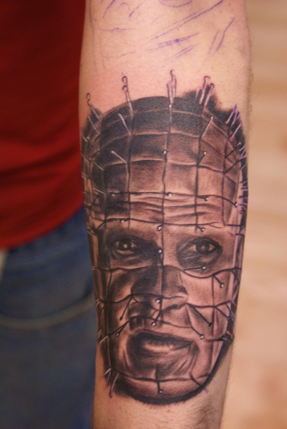 Hellraiser Portrait Best Portrait Tattoo Artist Tampa 1603 Ideas And Designs
