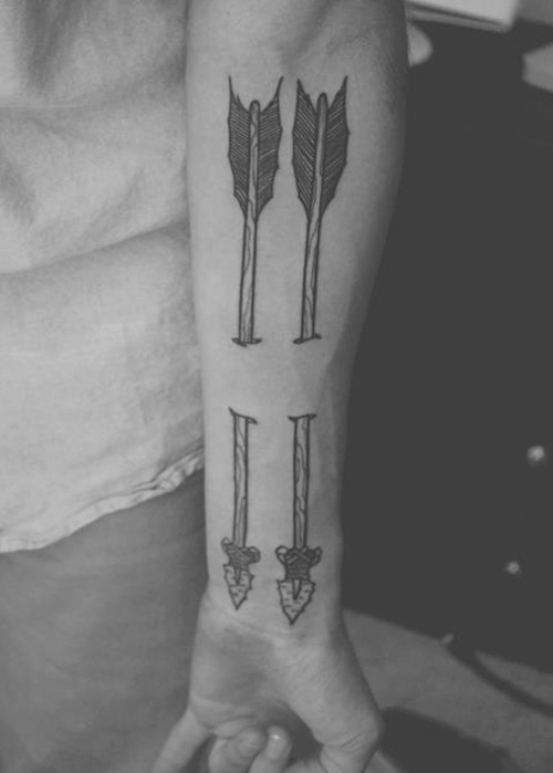 White Ink Arrow Tattoo Tumblr Ideas And Designs