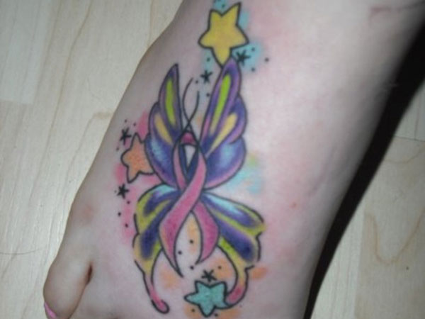 Cancer Ribbon Tattoos Designs Ideas To Give Support To The Ideas And Designs