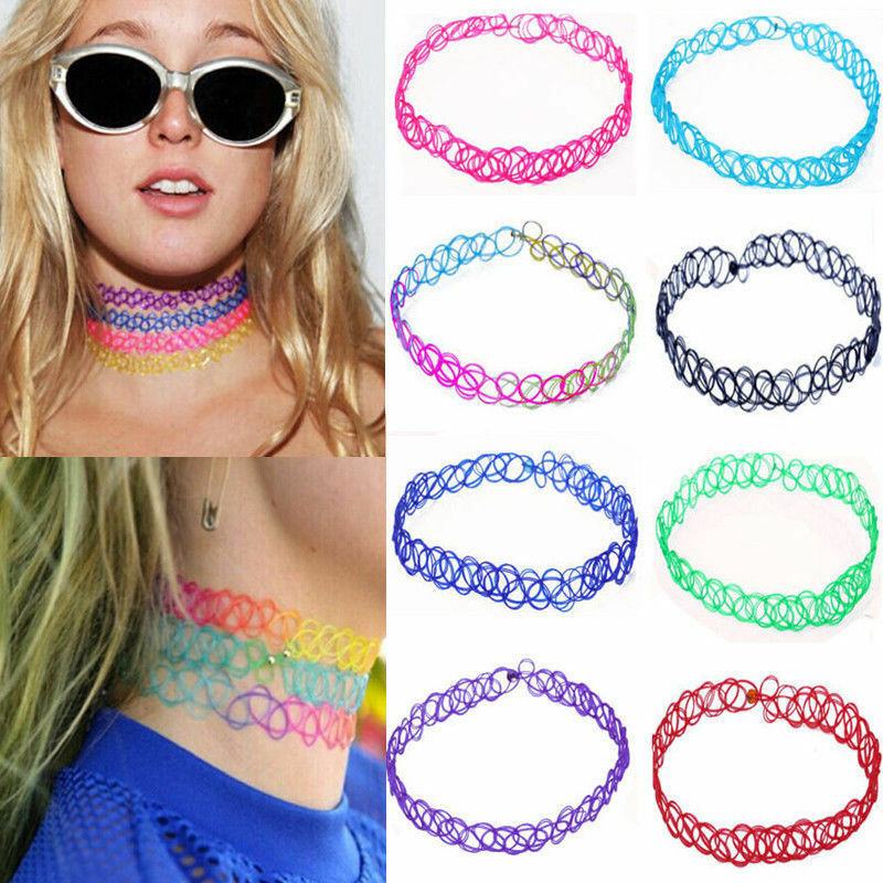 Vintage Stretch Tattoo Lace Choker Necklace Retro Gothic Ideas And Designs