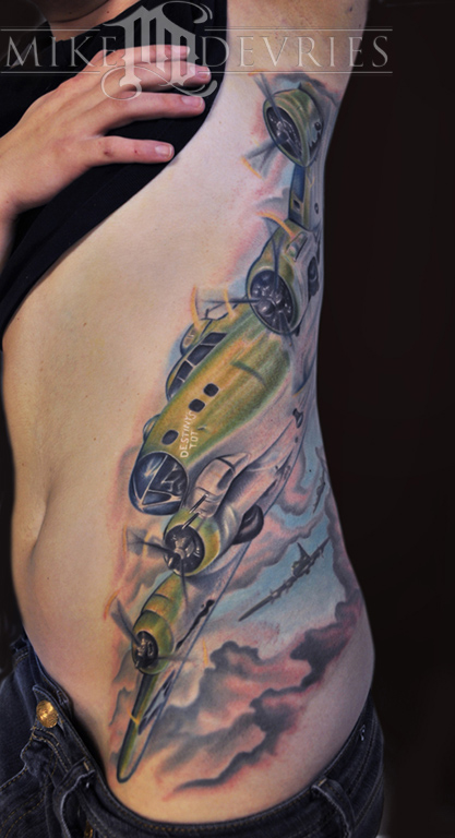 B 17 Bomber By Mike Devries Tattoos Ideas And Designs