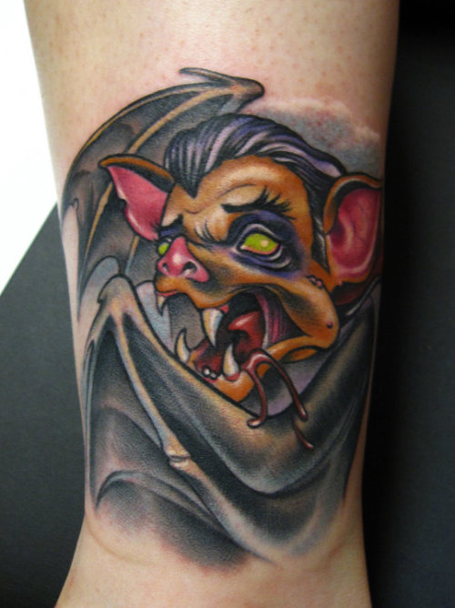 Fyeahtattoos Com — Vampire Bat Tattoo By Scotty Munster Ideas And Designs