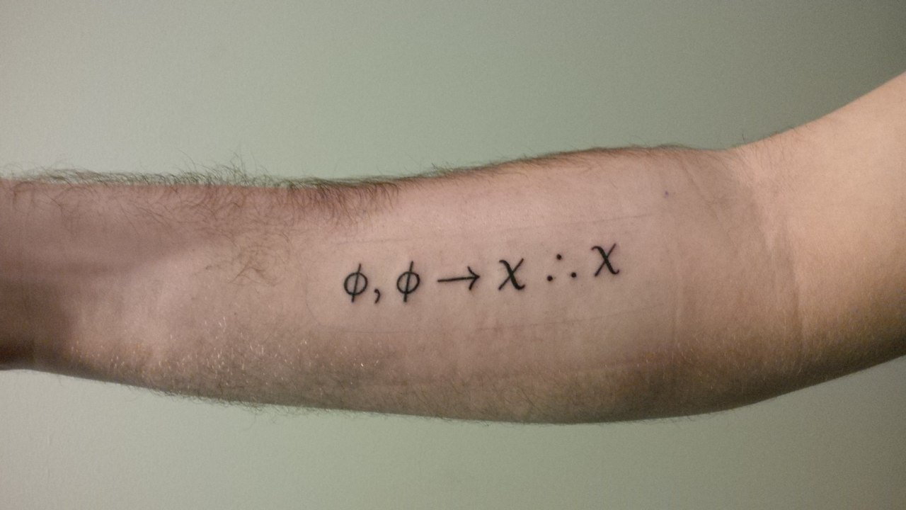 F*Ck Yeah Math And Science Tattoos Modus Ponens Done Ideas And Designs