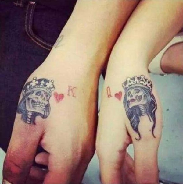 45 Cute King And Queen Tattoo For Couples Buzz 2016 Ideas And Designs
