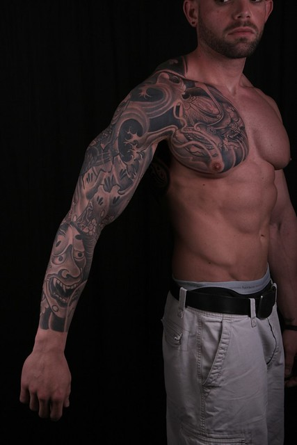 Oriental Tattoo Sleeve On Chest Six Pack Abs Oriental Tatt… Flickr Photo Sharing Ideas And Designs