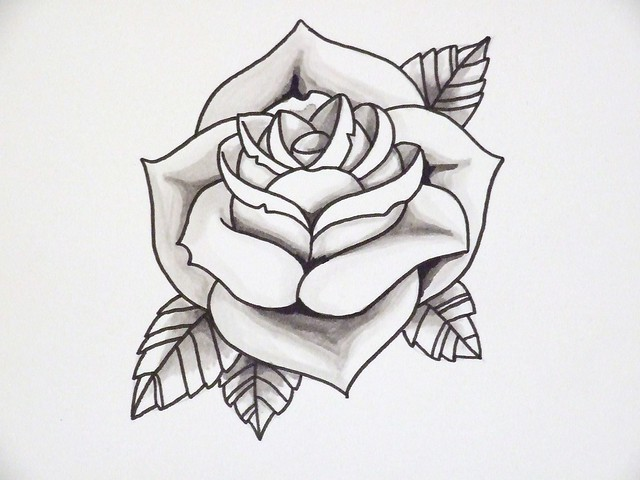 Rose Outline 2 Flickr Photo Sharing Ideas And Designs