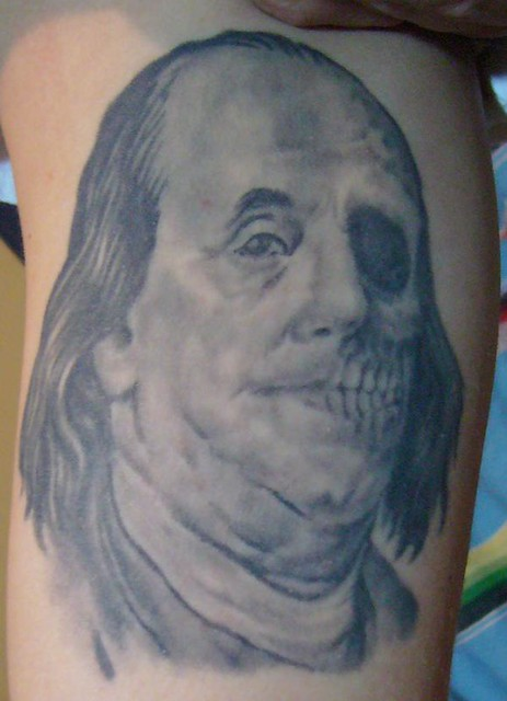 Zombie Ben Franklin Tattoo Flickr Photo Sharing Ideas And Designs