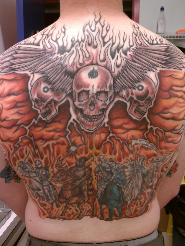 Tattoo Four Horsemen Back Piece By Thegreatscottharris Ideas And Designs