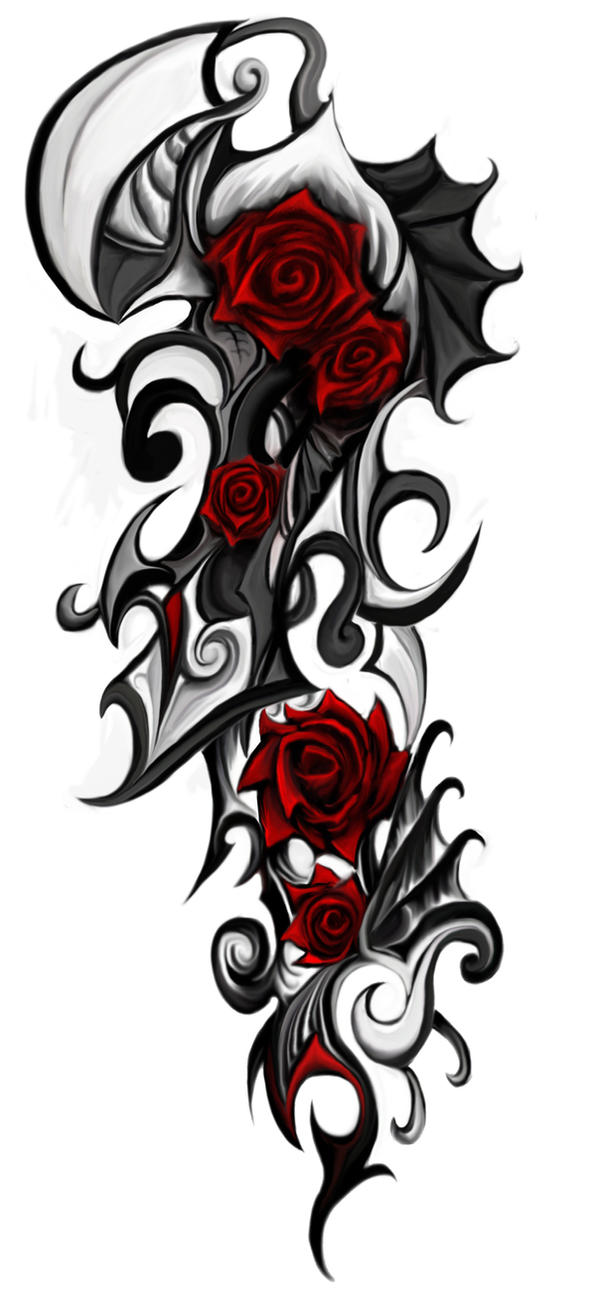 Rose Tribal Tattoo By Patrike On Deviantart Ideas And Designs