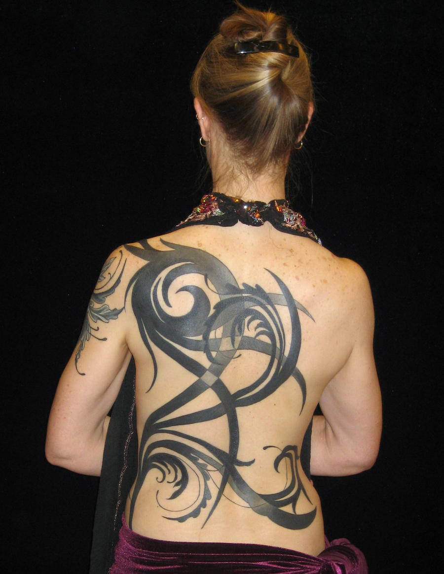 Abstract Tribal Back Piece By Madamelazonga On Deviantart Ideas And Designs