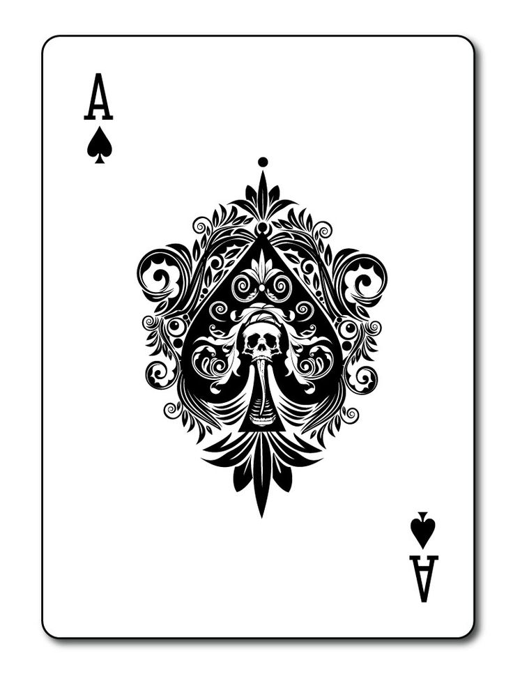 Ace Spades Death Card Tattoo Design Ace Of Spades Ideas And Designs