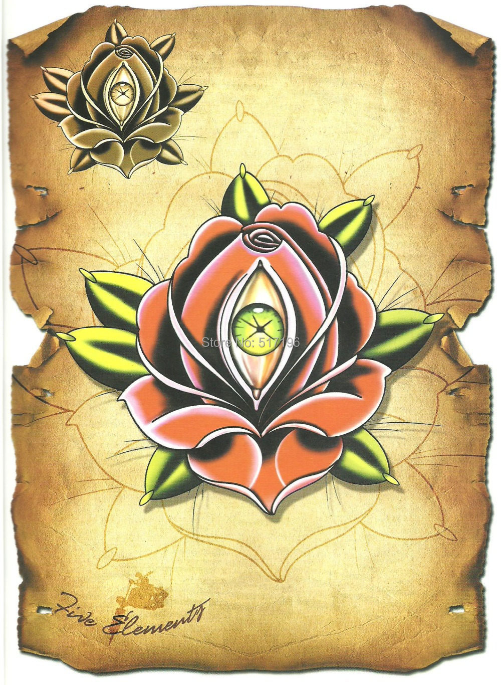 Pdf Format Tattoo Book The Five Element Tattoo Book Rose Ideas And Designs