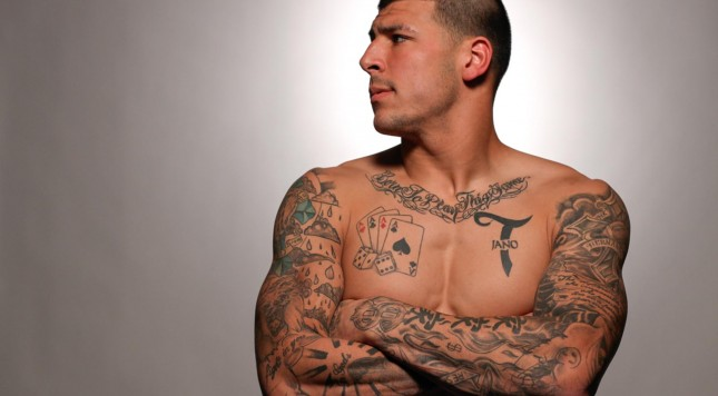 Judge Rules That Aaron Hernandez S Tats Can Be Used Ideas And Designs