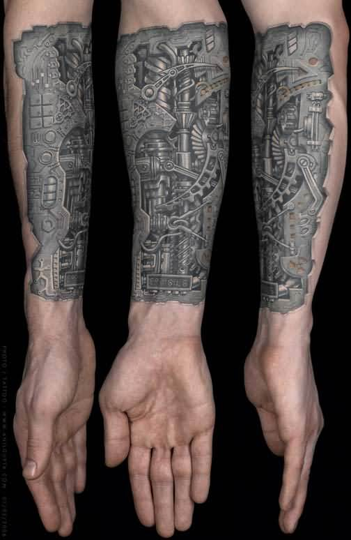 Biochemical Tattoo For Arm Ideas And Designs