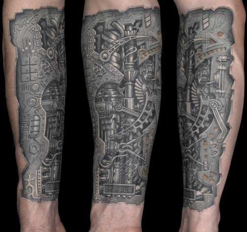 Biomechanical Tattoo Pictures Ideas And Designs