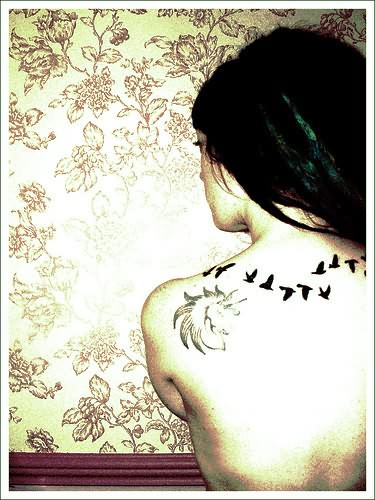 Birds Tattoo On Back Ideas And Designs