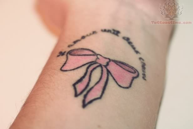 Ribbon Bow Tattoo On Wrist Ideas And Designs