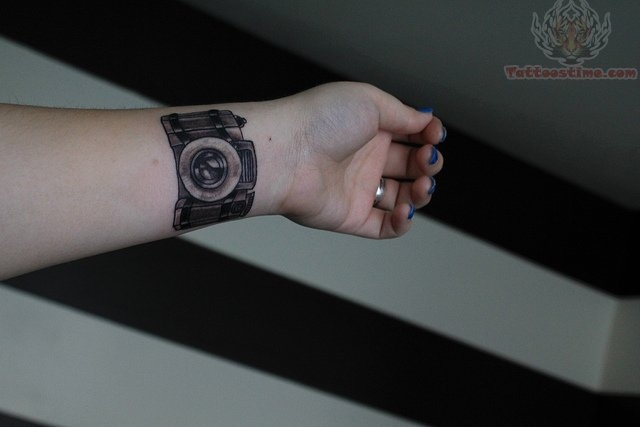 Photography Camera Tattoo On Wrist Ideas And Designs