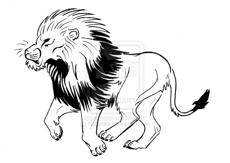 African Map And Lion Tattoo Design Ideas And Designs