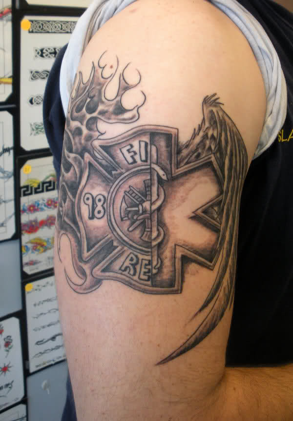 Firefighter Tattoo Images Designs Ideas And Designs