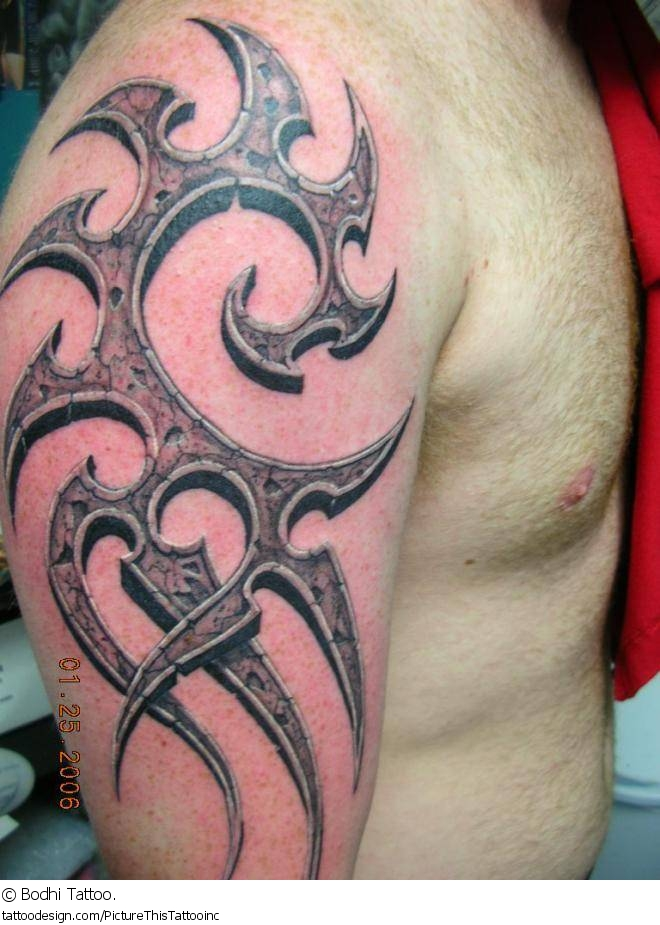 3D Tribal Half Sleeve Tattoo For Men Ideas And Designs