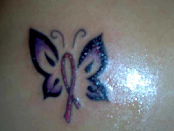 Cancer Ribbon Butterfly Tattoo Ideas And Designs