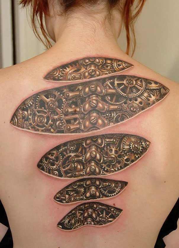 25 Mind Bending 3D Tattoos Ideas And Designs