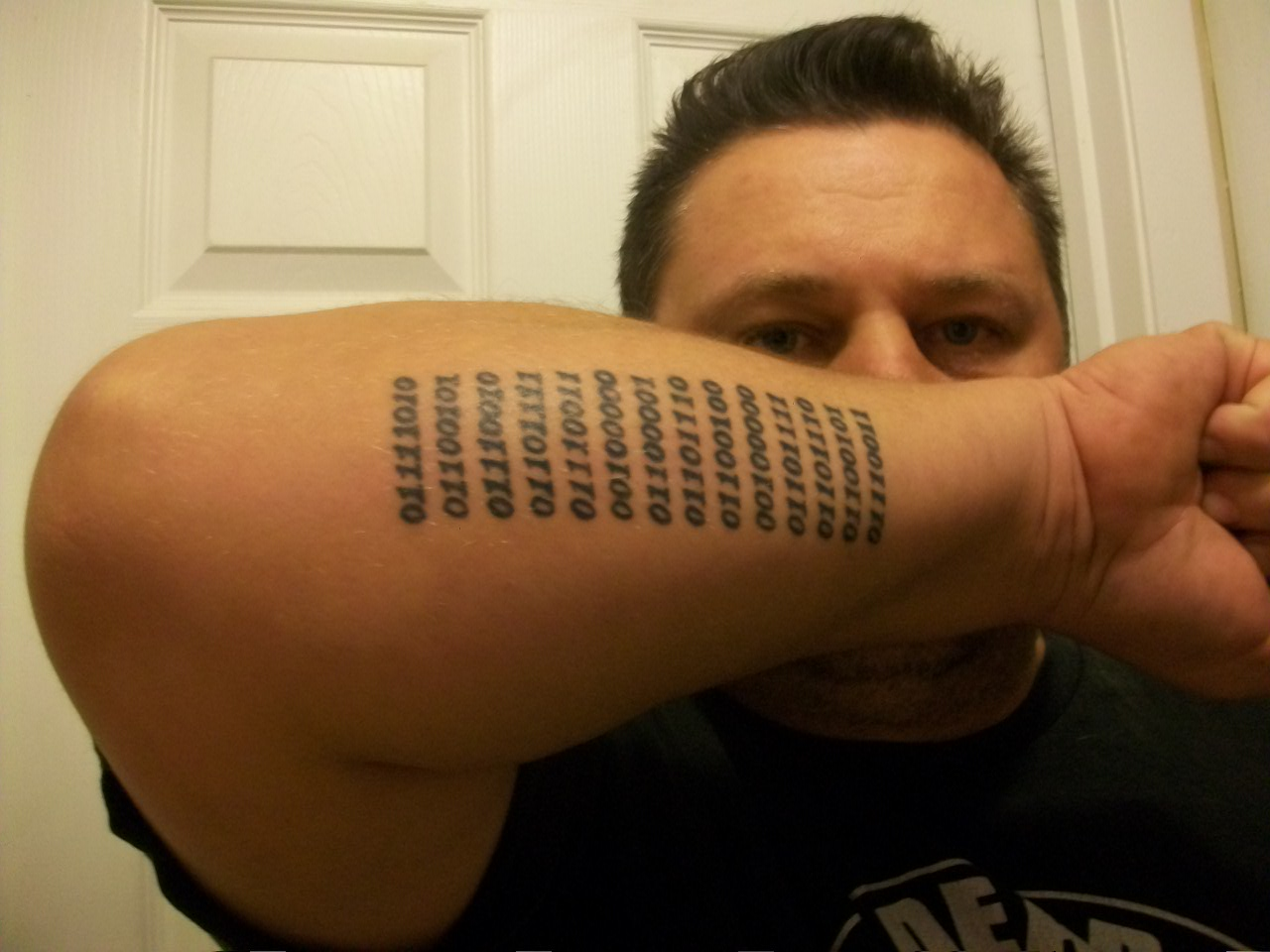 Zeros And Ones In Binary Tattoo Picture Ideas And Designs