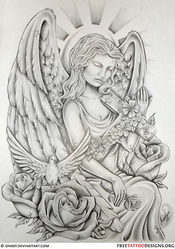 Angel Tattoos Angel Wings Guardian Angel And St Michael Ideas And Designs