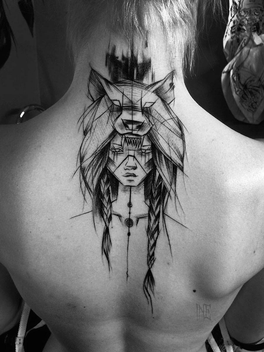 Impressive Black And White Sketch Tattoos – Fubiz Media Ideas And Designs