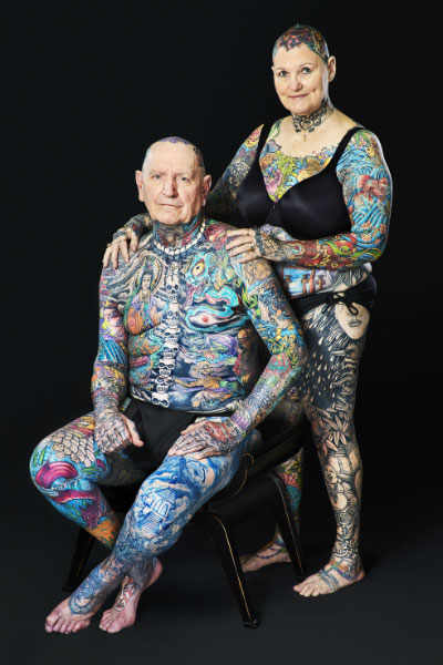 Senior Citizen Breaks Record For Most Tattoos On The Body Ideas And Designs