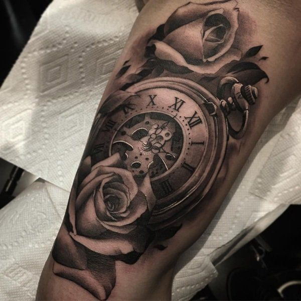 Tattoo Trends Watch With Rose Tattoo 100 Awesome Watch Ideas And Designs