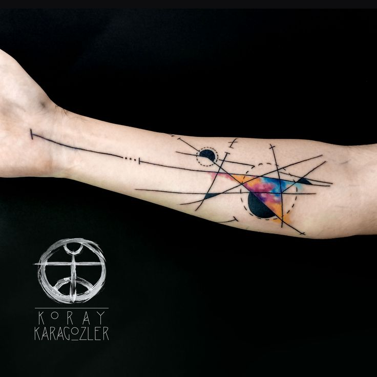 Watercolor Tattoo Geometric Abstract Watercolour Ideas And Designs