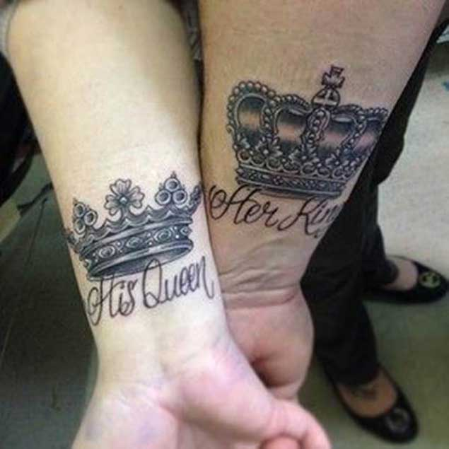 40 King Queen Tattoos That Will Instantly Make Your Ideas And Designs