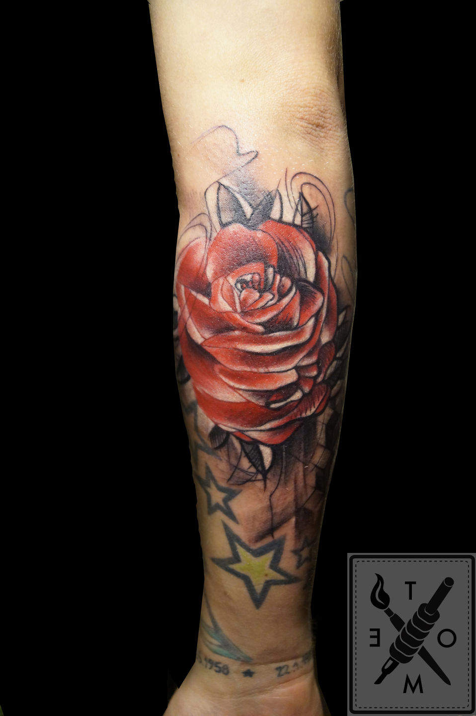 Tometattoo Rose Abstract Rose Tattoo Tome Color Art Ideas And Designs