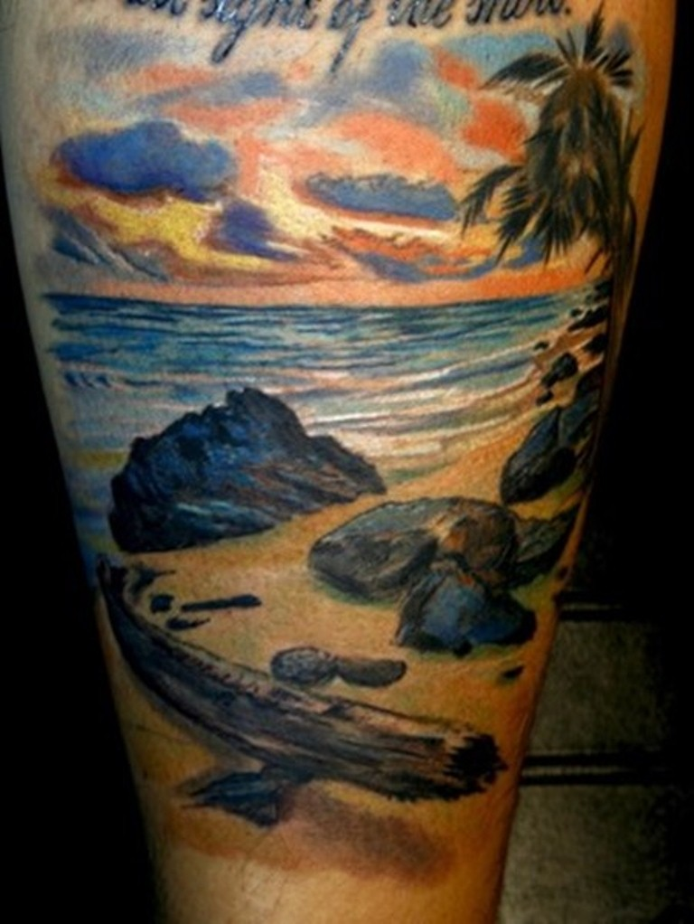 30 Beach Tattoos Tattoofanblog Ideas And Designs