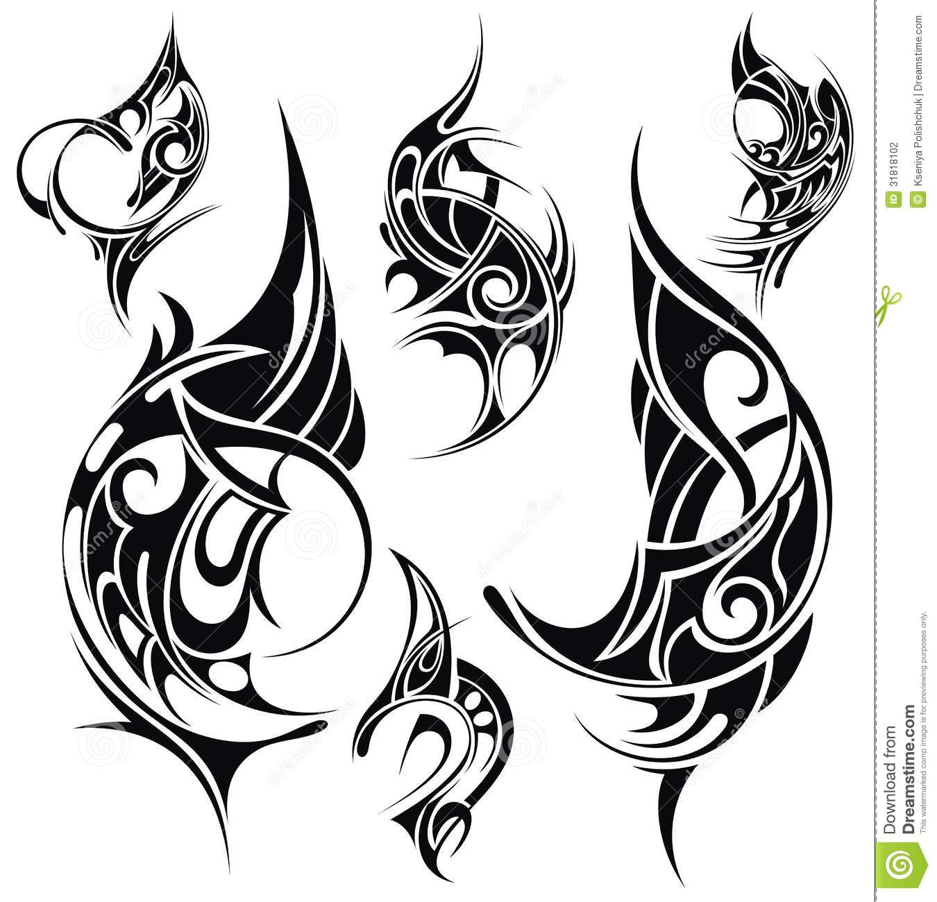 Tattoo Design Elements Stock Vector Illustration Of Ideas And Designs