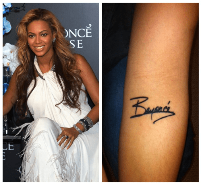 Beyonce Fan Gets Autograph On Her Arm Then Goes To A Tatto Ideas And Designs