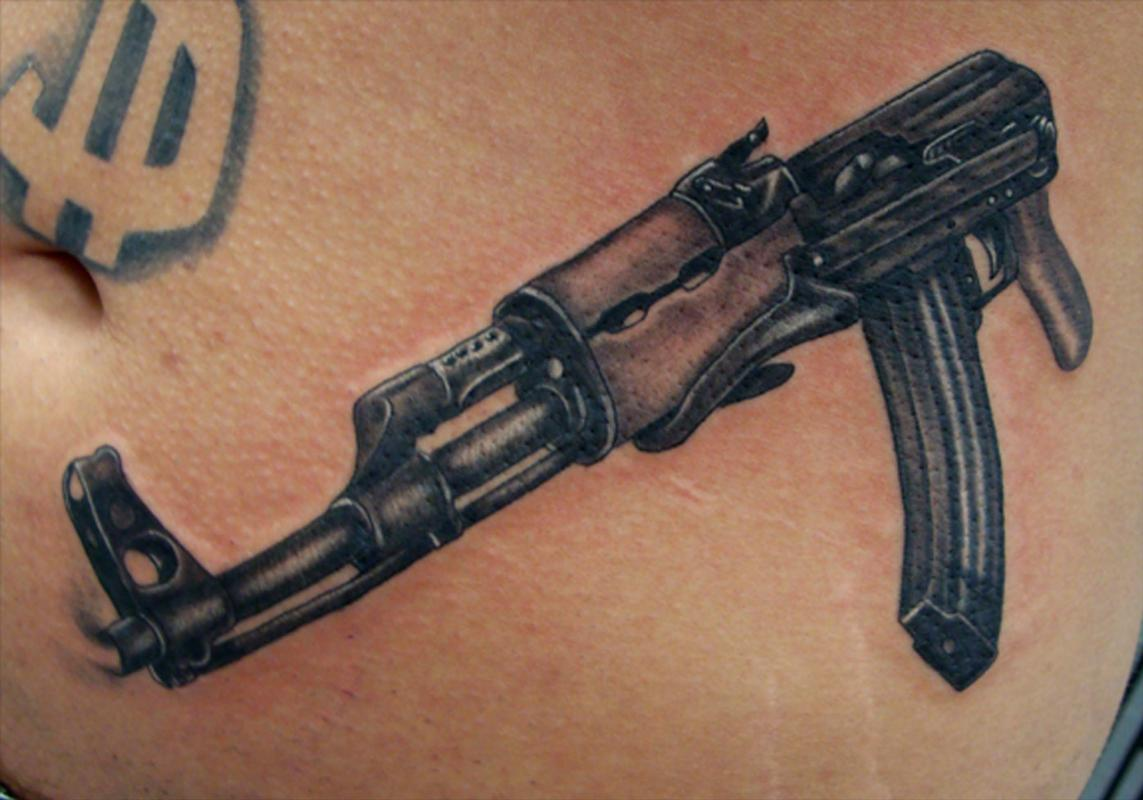 Ak 47 Tattoos Designs Ideas And Meaning Tattoos For You Ideas And Designs