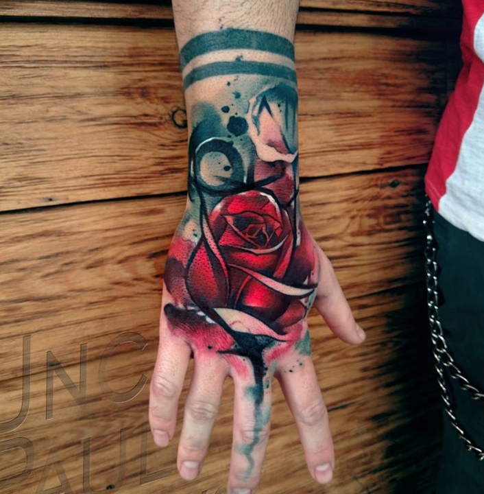Red Rose Tattoos By Tattoo Artist Uncl Paul Knows Ideas And Designs