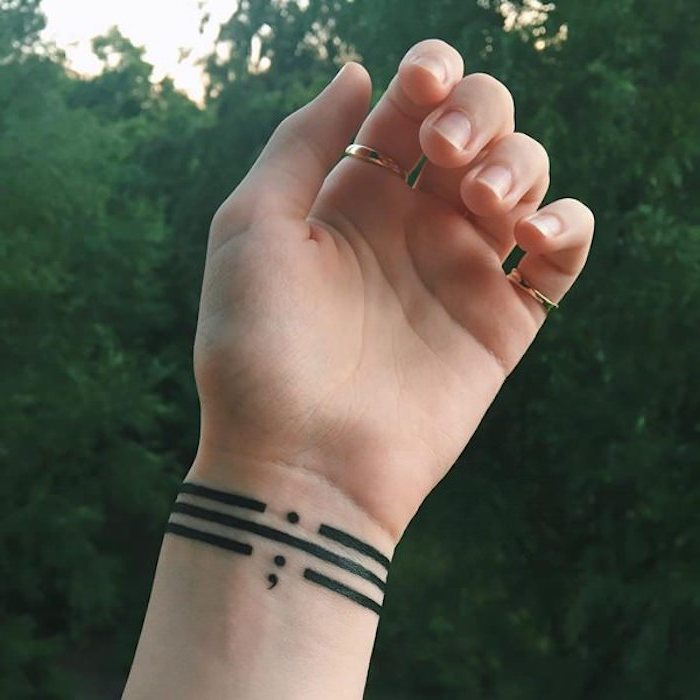 1001 Ideas For Moving And Inspirational Semicolon Tattoo Ideas And Designs