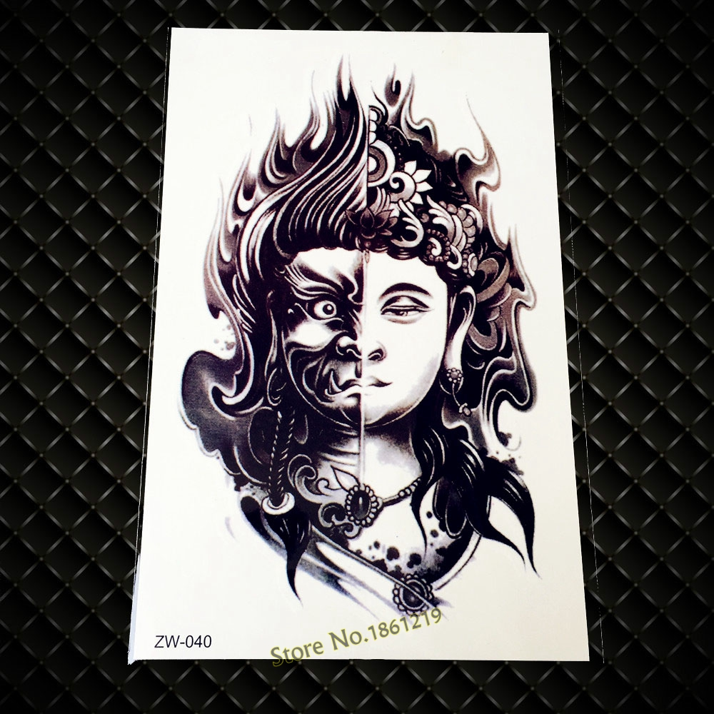 Two Sided Buddha Design Armband Temporary Tattoos Gzw 040 Ideas And Designs