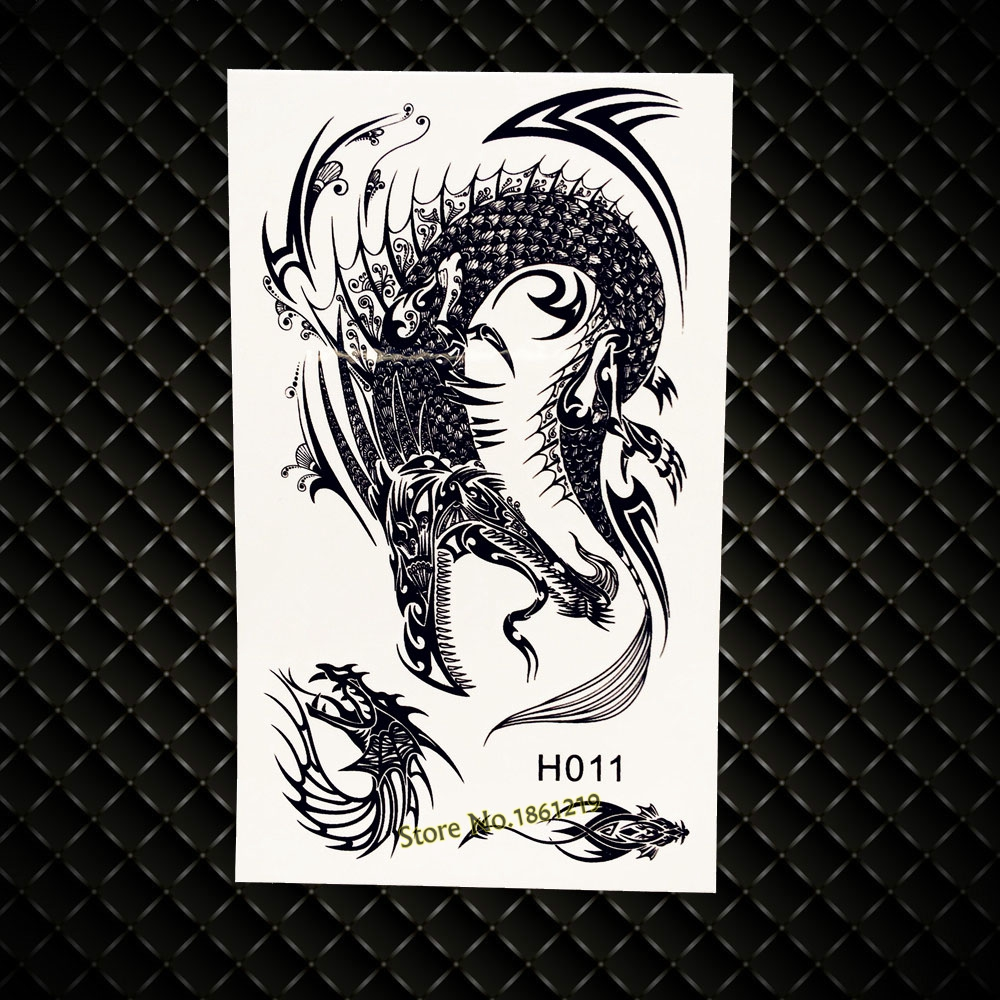 Cool Flying Dragon Temporary Tattoo Stickers 3D Fake Flash Ideas And Designs