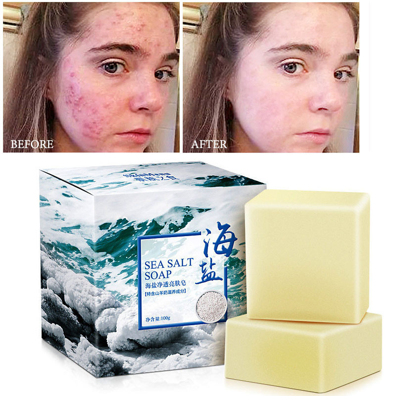 100G Sea Salt Whitening Soap Cleaner Removal Pimple Pores Ideas And Designs