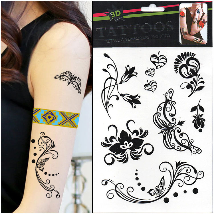 Hot Sale Beauty Flowers Tattoos Decorations New Arrive1Pcs Ideas And Designs