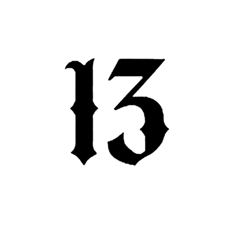Free Shipping Lucky Number 13 Car Stickers Interesting Car Ideas And Designs