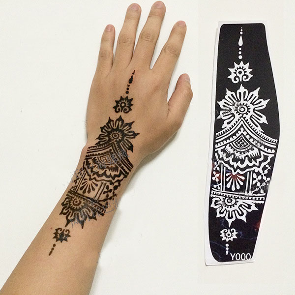 Aliexpress Com Buy Professional Big Size Henna Tattoo Ideas And Designs