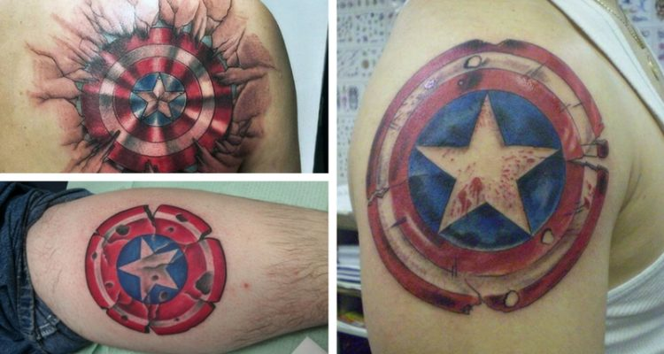 Huge Captain America Shield Tattoo Collection Ideas And Designs