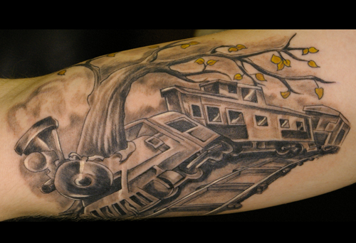 Train Tattoo Art Designs Bodysstyle Ideas And Designs