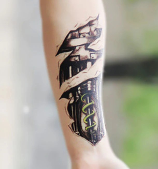 The Terminator Bionic Robot Arm Temporary Tattoo Sheets Ideas And Designs